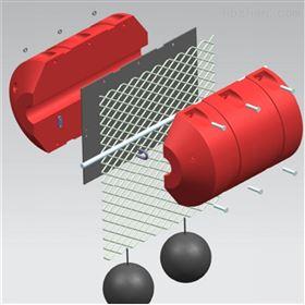 FT450*900中间可挂钢丝网和绳索组合拦污浮筒