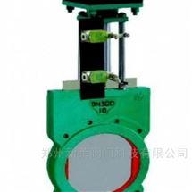 Z6S73X-10气动带手轮对夹式浆液阀