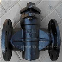 X43W-10铸铁二通法兰旋塞阀