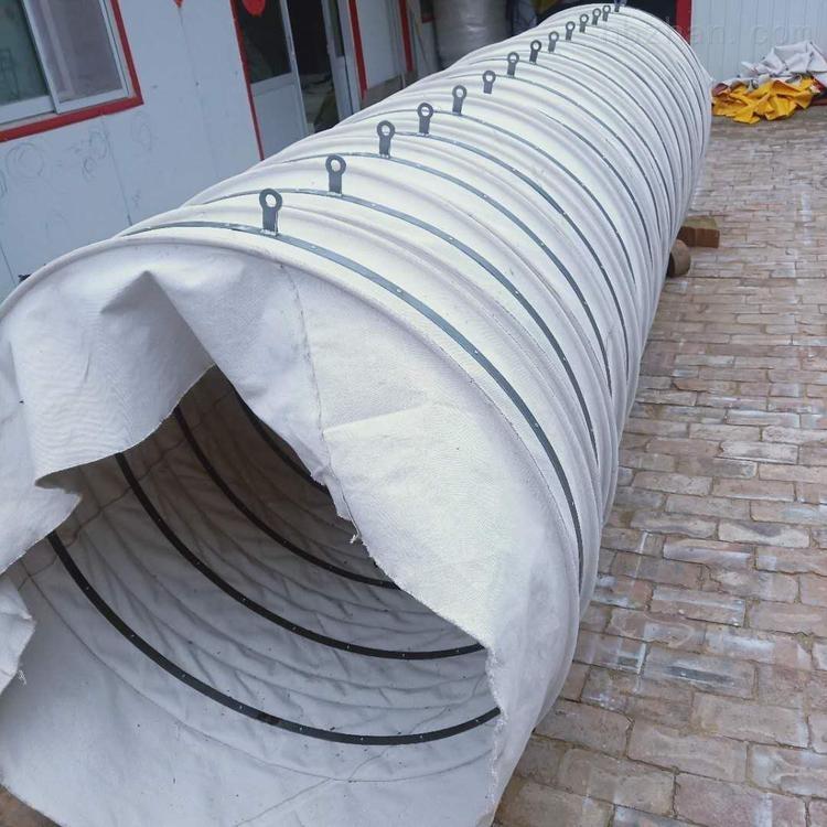 水泥厂粮食输送帆布伸缩溜筒