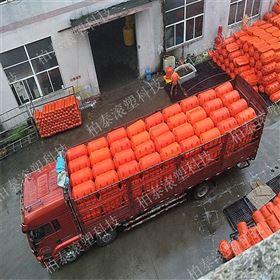 FT500*750河道可动软式拦渣器塑料浮筒