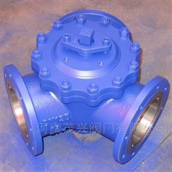 蜗轮120度Y型三通球阀