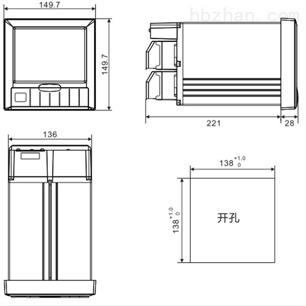 VX6308R/A8/C3/U/L/TP4彩屏无纸记录仪