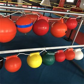 FQ400库区隔离警戒防紫外线浮漂圆形穿绳警示浮球