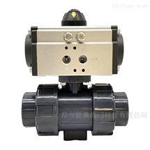 Q621F-10S气动UPVC双活接塑料球阀