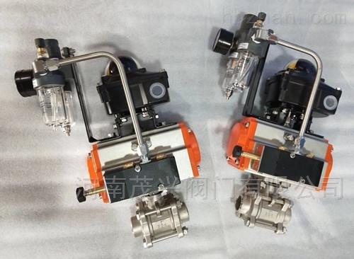 气动三片式不锈钢对焊球阀
