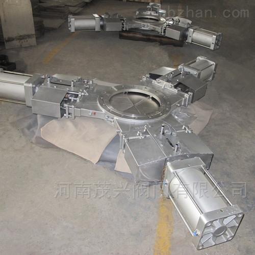 气动三开式插板阀