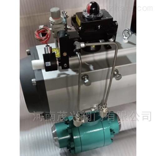 气动高压焊接锻钢球阀