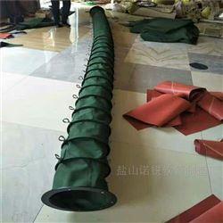 绿色帆布风道密封伸缩软连接