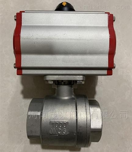 Q611F气动二片式内螺纹球阀