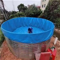 帆布鱼池镀锌板鱼池定制