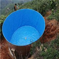 圆形鱼池镀锌板养殖水池