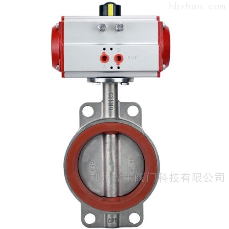 D671SI-16P气动不锈钢高温硅胶对夹蝶阀