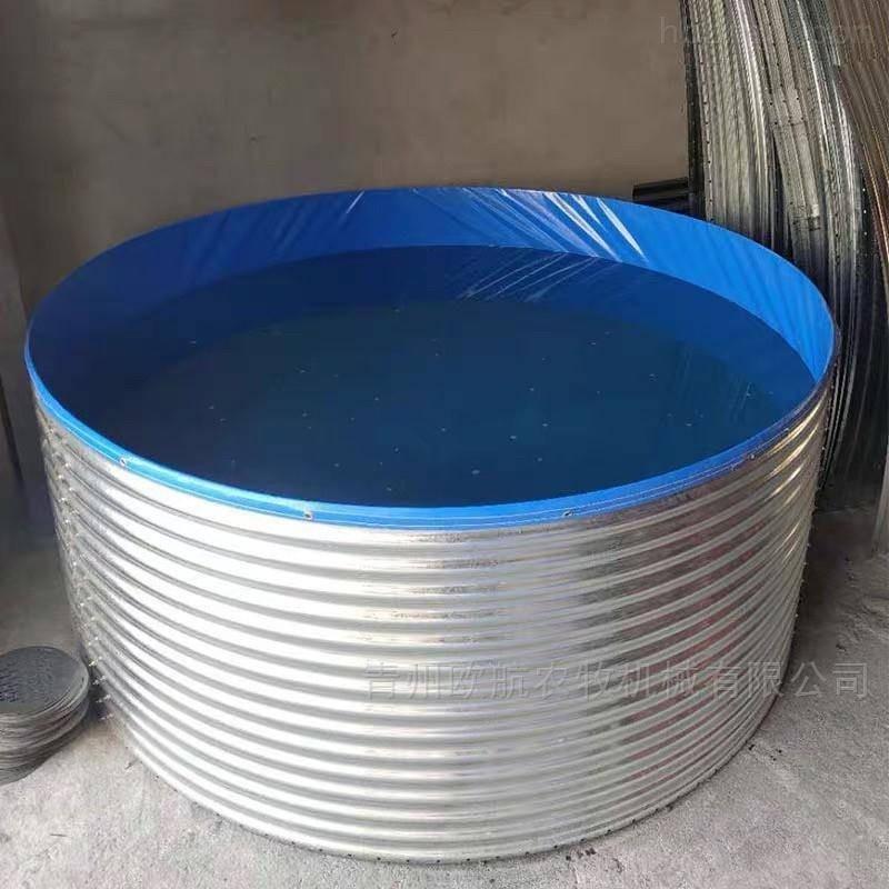 镀锌板养鱼池实体厂家-欧航定做