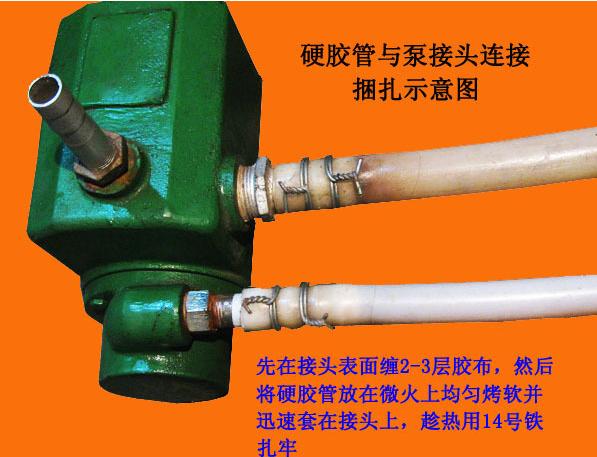 螺桿自吸泵膠管連接方法