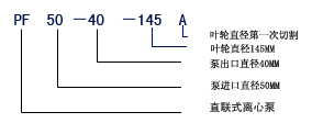 PF耐腐蚀离心泵型号意义