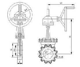 伞齿轮传动刀型闸阀PZ543