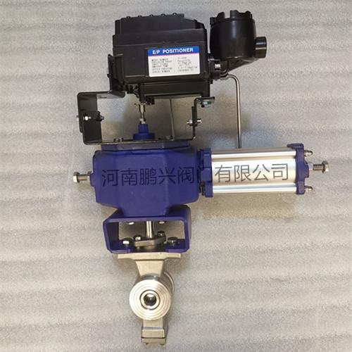 QV677F气动V型球阀