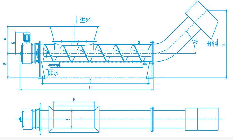 LYZ型螺旋压榨机工作过程