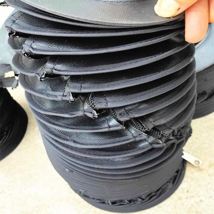 拉链式液压杆圆形防尘罩