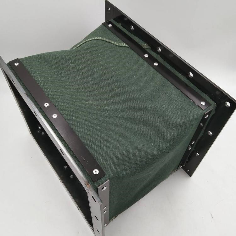 绿色帆布排烟除尘通风伸缩软连接定做
